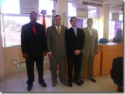 Aldair Nunes Elias, vice presidente, Luciano Rangel Junior, presidente, Fabiano Taques Horta, primeiro secretário e Ronny Pereira de Azevedo, segundo secretário. Mesa diretora reeleita
