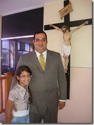 presidente reeleito  Luciano Rangel Junior e sua filha Vitória