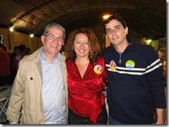 Chico D'Ângelo, Zeidan e o vereador de Maricá Fabiano Horta