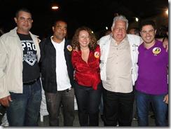 Os vereradores de Maricá, Helter, Rony e Uiltinho Vianna, apóiam Zeidan e Vladimir Palmeira