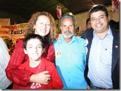 Zeidan e família com Zé Mineiro Nova Iguaçu