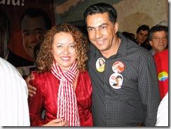 Zeidan e o vereador Luiz Carlos,Belford Roxo