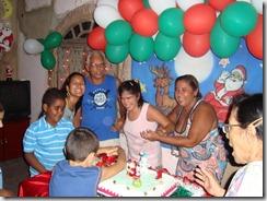 Fernanda da Silva festejando seu niver de 14 anos