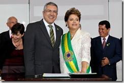 Ministro da Saúde Alexandre Padilha e a presidenta Dilma Roussef