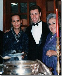 Foto 4 - Christine Yufon, Conde Thiago de Menezes e Dulce Simonsen Anos 1990
