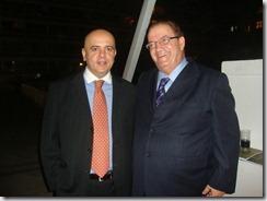 Luiz Fernando Bueno, Diretor Geral de Operações da Gafisa, e o amigo e empresário Ricardo Vieira da GC Glass