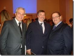 Paulo Fabbriani da Fator Realty, Luiz Ferando Moura vice presidente da ADEMI e diretor da Brooksfield e o empresário Ricardo Vieira da AGC Glass