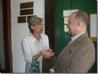 Esposa de Abdias Nascimento (in memoria), Elisa Nascimento, e o secretário municipal de Cultura de Maricá, Ricardo Cravo Albin