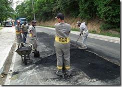 Prefeitura faz manutenção de ruas Foto Fernando Silva