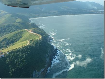 Vista aérea do local que irá abrigar o Porto do Pré Sal, em Maricá-RJ - aqui será implantado o Polo Naval de Jaconé. (foto aérea Rosely Pellegrino)