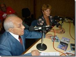 Mirene Alves entrando no ar na Radio Nacional
