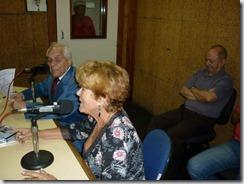 Mirene Alves sendo entrevistada na Radio Nacional