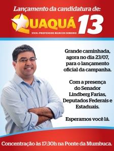 Senador Lindberg e Deputados Federais e Estaduais estarão presente no lançamento da campanha de Quaquá em Maricá