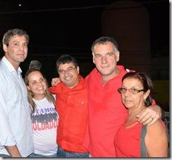 Lindberg Farias, Lurian da Silva, Washington Quaquá, Marcos Ribeiro e Dona Ione Cardoso Siqueira