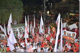 O povo tomou contou da praça no lançamento da candidatura de Quaquá para reeleição 2012