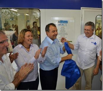 Chico D'Angelo, Rosangela Zeidan, Sérgio Cabral Filho e Alexandre Padilha (inauguração) UPA Maricá