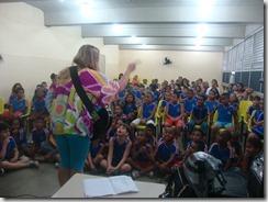 Dalva Alves e Ronaldo Valentin durante contação da História de Maricá para os alunos da Escola  (9)