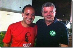 Rodrigo Neves prefeito eleito em Niterói, e seu vice Axel Grael