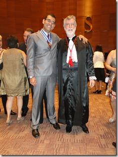 Geraldo Aymoré Junior com o Atual presidente do TJRJ Desembargador Manuel Alberto Rebelo dos Santos