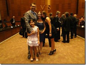Geraldo Aymoré Junior com sua esposa Renata e filhas