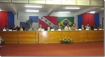 Mesa solene de posse dos eleitos em Maricá para o mandato de 2013.2016
