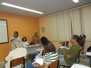 Cleiza Campos do COMCULTURA, prestigiou o Fórum e falou da importância do Sistema Municipal de Cultura