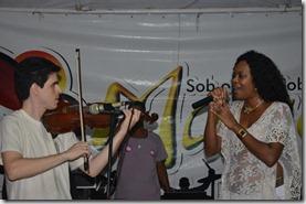 Jô Borges com Dalbert ao violino