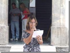 Meg Carvalho, Presidente da Academia de Letras de Maricá no Varal Cultural de Poesia de Maricá