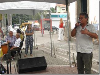 O Secretário Municipal de Cultura Sérgio Mesquita no Maricá Vive Poesia