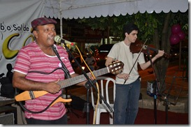 Ronaldo Valentin e Dalbert ao violino
