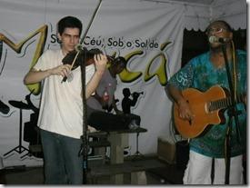 Sergio Dantas e Dalbert ao violino