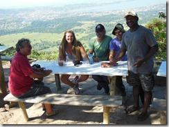 Denilson da Rampa de Parapente de Maricá recebendo Secretario Municipal de Cultura de Maricá, Sérgio Mesquita, e sua equipe com Rosely Pellegrino, Katito e Lula