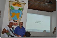 Pai Liminha comentando sobre o projeto da Praça Escrava Anastácia.