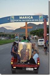 Chegada dos Símbolos da JMJ em Maricá. Foto de Paulo Polônio