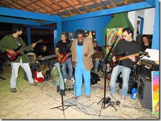 Cogumelos Band na abertura do Quiosque Ponto 4