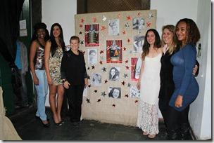 As Mulheres que participaram do projeto da esquerda para a direita  Jô Borges, Kelly Kristiny, Mirene Alves, Maytê Correa Dalva Alves e Janine Siqueira.