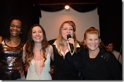 Cantaram em homenagem as mulheres da MPB, Jô Borges, Maytê Correa, Dalva e Mirene Alves