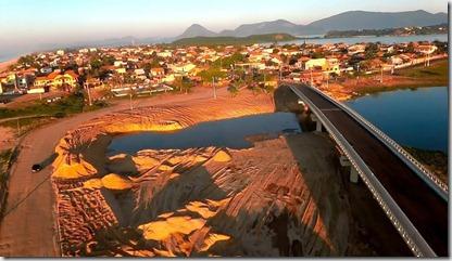 ponte da Barra de Maricá quase pronta