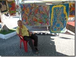 Mestre da Tapeçaria do Espraiado Elidio Garcia dos Santos, participando da Feira Cultural, Maricá Mostra Cultura em 2013 (2)