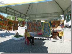 Mestre da Tapeçaria do Espraiado Elidio Garcia dos Santos, participando da Feira Cultural, Maricá Mostra Cultura em 2013 (1)