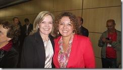 A presidente municipal do PT Maricá, Zeidan e a senadora Gleise Hoffman