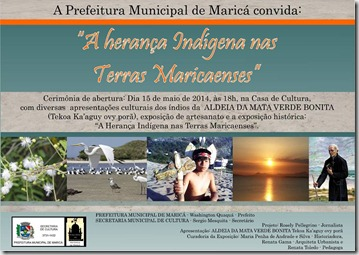 convite exposição em homenagem a Cultura Indígena