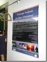 Exposição em homenagem a cultura indigena, Casa de Cultura de Maricá. foto 2 Renata Gama