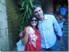 Myrtes Almada e Lindberg, na Caravana da Cidadania em São Gonçalo