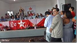 O presidente da Câmara Municipal de Maricá Fabiano Horta, na Caravana da Cidadania em São Gonçalo.