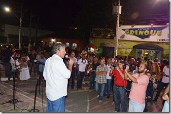 Secretário Municipal de Cultura de Maricá Sérgio Mesquita abrindo a exposição A Herança Indígena nas Terras Maricaenses