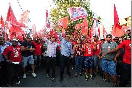 Lindberg e a força da onda vermelha caminham em Maricá com Zeidan para Deputada Estadual e Fabiano  para Deputado Federal (fotos Rosely Pellegrino) (110)