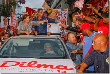 Dilma ao lado de Lindberg faz campanha em São Gonçalo 12.09 (1)