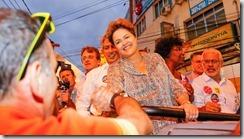 Dilma ao lado de Lindberg faz campanha em São Gonçalo 12.09 (2)
