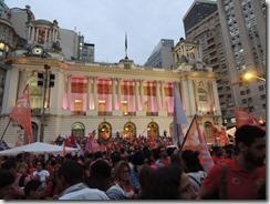 Ato Somos Coração Valente 22.10.2014,  militância lotou Candelária #Dilma 13  (1)